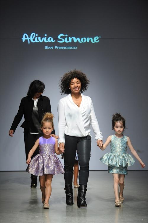 Shirley Newton& Simone Colbert, Designers of Alivia Simone walk finale at petitePARADE.