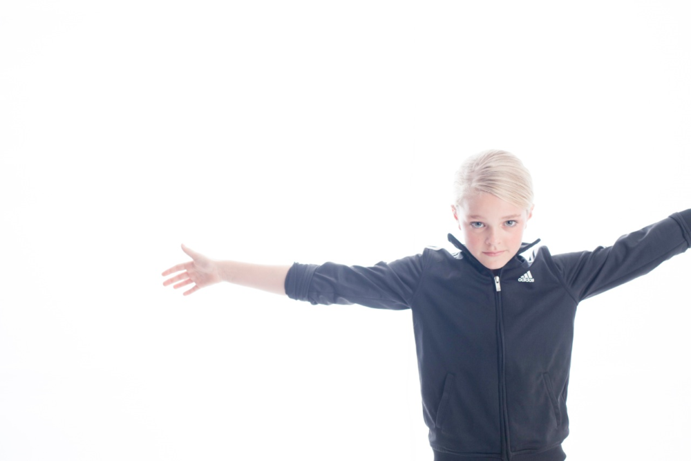Violet Knobel in ADIDAS Track Jacket | Photograph by  Lee Clower.