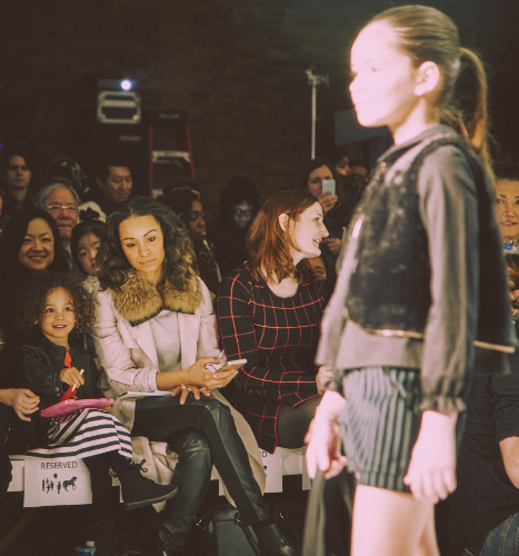 Earnshaw's Editor-In-Chief, Audrey Kingo, at petitePARADE Kids Fashion Week / Photo: Anna Palma