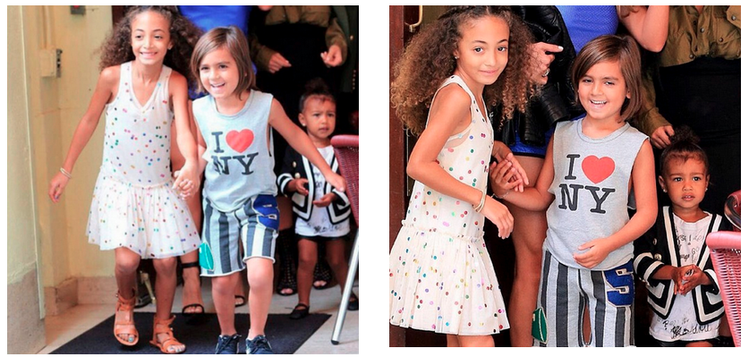 Sophia Pippen in Stella McCartney with Mason Disick & North West | Written by: Bryan Armando