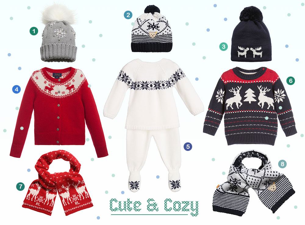 A festive, curated selection of winter knits by Childrensalon.com to keep your mini warm all holiday season long.