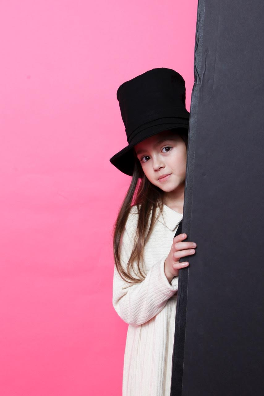 Stovepipe hats and loose smocks for kidswear at Little Creative Factory fall/winter 2016