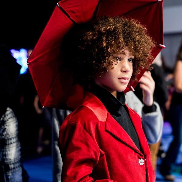 Saving rainy days since AW19/20 @infantiumvictoria backstage before the KidFizz Fashion Show @pittimmagine ☔️ ♥️ ✌️