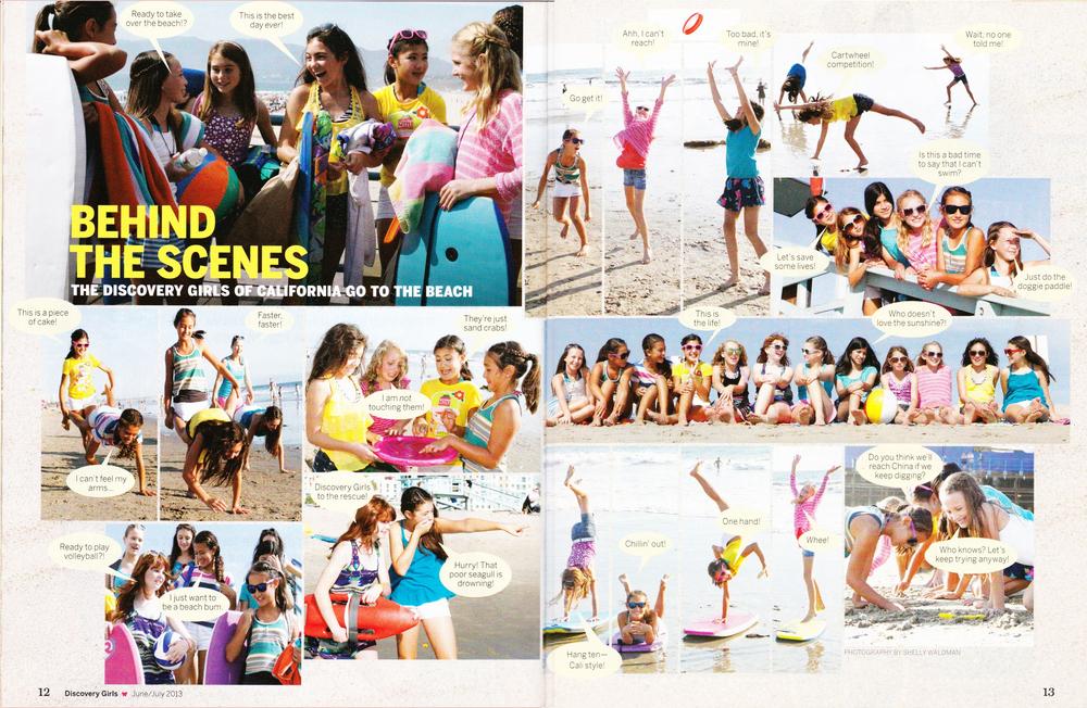Discovery Girls June-july 2013 bts beach.jpg
