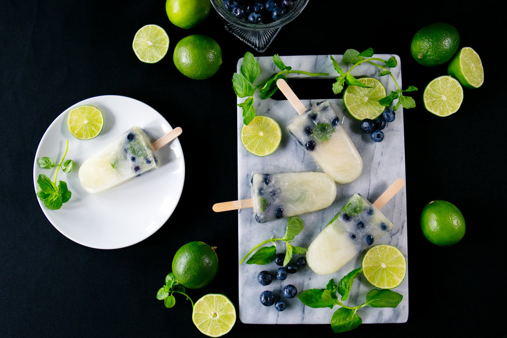 blueberry mint mojito popiscles