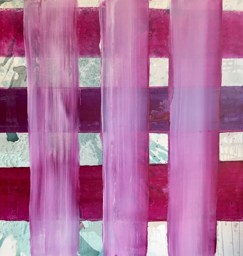 """""""Pink Silhouette Series"""".    48"""" x 48"""""""