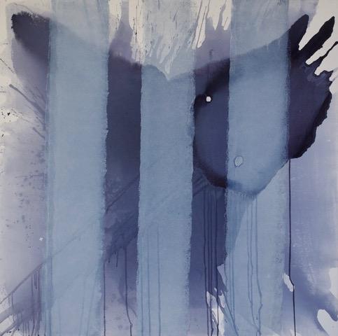"""Blue Silhouette Series"".    48"" x 48"""