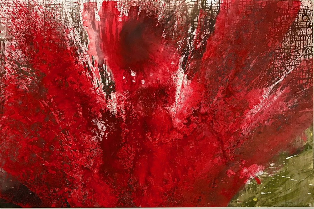 """Red Coral"". 48 X 60"