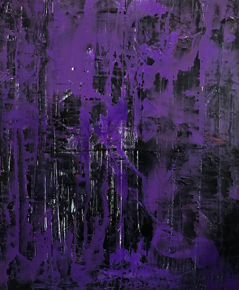 """Purple Haze"" 48"" x 48"""