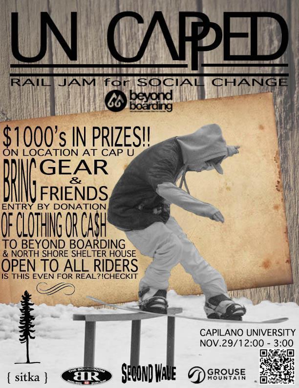 Beyond Boarding sponsored the Uncapped rail Jam Thursday 29th November 2012! it was rad!