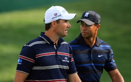 Padraig Harrington and Tiger Woods