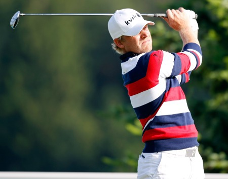 Jeppe Huldahl opened with an eight under 64 to lead in Austria. Picture copyright 'GEPA – Pictures""