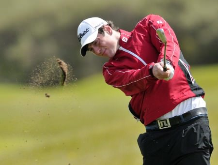 Knock's Colin Fairweather impressed at Lahinch on Monday. Pictured during the Irish Close by Pat Cashman