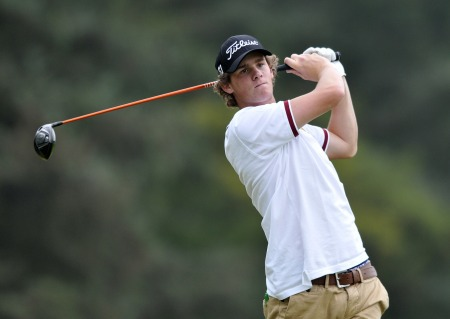 Belgian Thomas Pieters is the joint clubhouse leader with England's Garrick Porteous in the European Individual Amateur Open at Carton House. Picture Pat Cashman