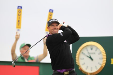 Padraig Harrington in the final round of the 2013 Open at Muirfield