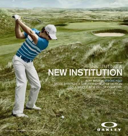 Rory McIlroy in promotional material for Oakley, which was shot at Ballyliffin Golf Club in Co Donegal.