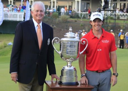 Ted Bishop and Rory McIlroy at Kiawah Island in 2012