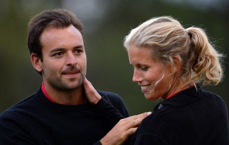 Carlos del Moral and girlfriend/caddie Karin Dedering