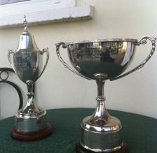 Lucan Junior and Senior Scratch Cup trophies