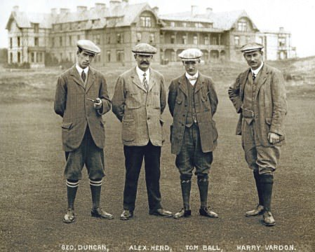 George Duncan, Alex Herd, Tom Ball and Harry Vardon