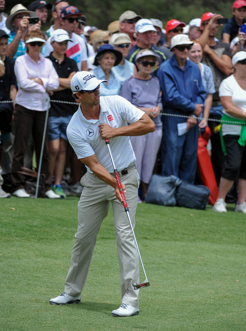 Adam Scott didn't have a great day with the putter.  Picture via  Oneasia.asia