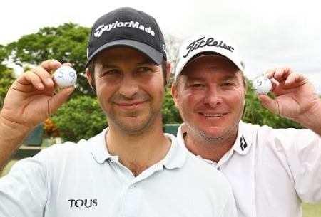 Jorge Campillo (left) and Colin Nel both shot unofficial 59s in the Nelson Mandela Championship. Picture via sunshinetour.com