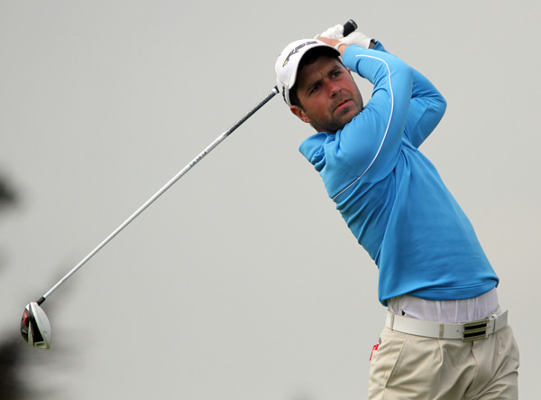 Matthew McAlpin in action in the 2012 East of Ireland at Co Louth. Photo Jenny Matthews/ www.golffile.ie