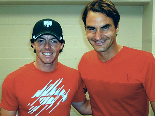 Rory McIlroy and Roger Federer at an ATP event in Cincinnati last year.