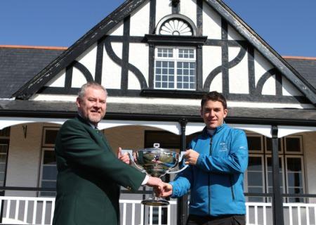 Terry Brady (Captain of Co. Sligo Golf Club) with 2013 Winner Rory McNamara (Headfort). Photo Jenny Matthews/ www.golffile.ie