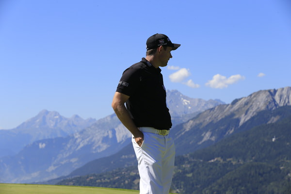 The view from the summit. Pádraig Harrington at the Omega European Masters pro-am in Crans Montana in September. Picture: Eoin Clarke www.golffile.ie