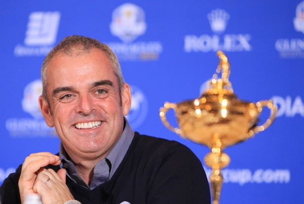 Paul McGinley at his announcement as European Ryder Cup captain. Picture Stuart Adams www.golftourimages.com