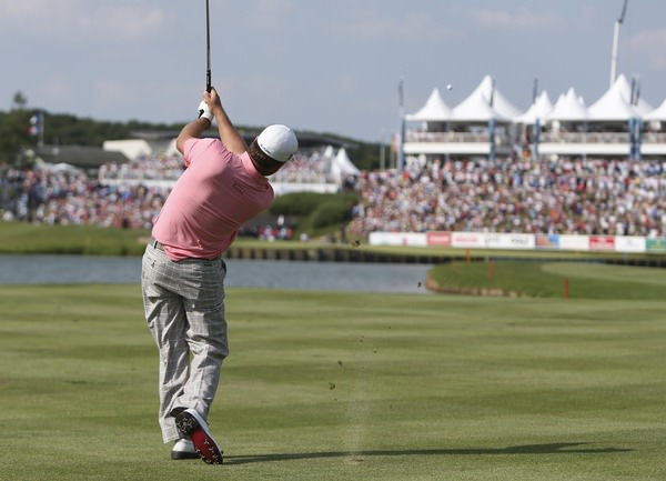 Graeme McDowell hits to the last en route to his third win of 2013 in the Alstom Open de France, at Le Golf National, Versailles, Paris. Picture: David Lloyd/www.golffile.ie