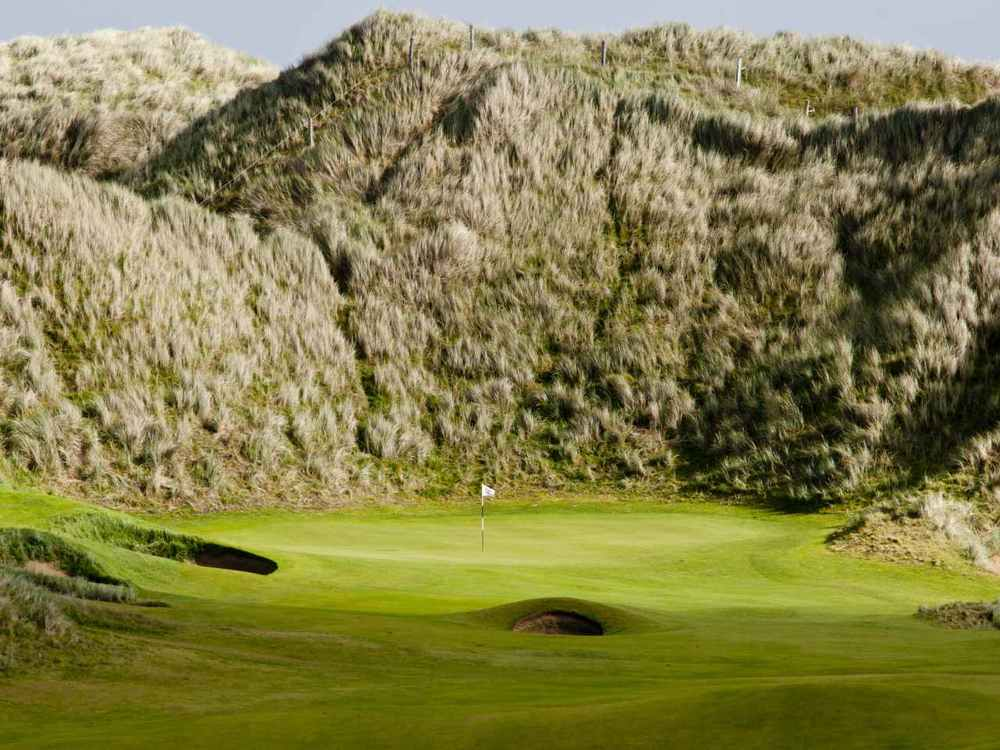 Massive dunes are a feature of Doonbeg. Picture via  Doonbeg Golf Club