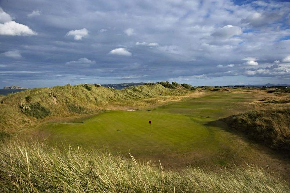 The 18th at Portmarnock Hotel & Golf Links. Picture courtesy  www.portmarnock.com