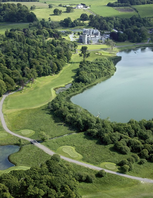 The finishing hole at Dromoland Castle.