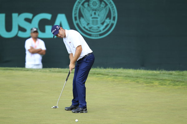 Pádraig Harrington needs to see his lines clearly in 2014. Pictured at the US Open by Eoin Clarke /  www.golffile.ie