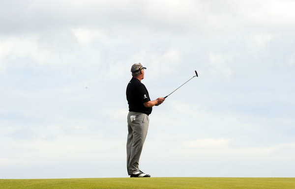 Darren Clarke en route to victory in the final round of the 2011 Open Championship. Picture Credit / Phil Inglis / www.golffile.ie