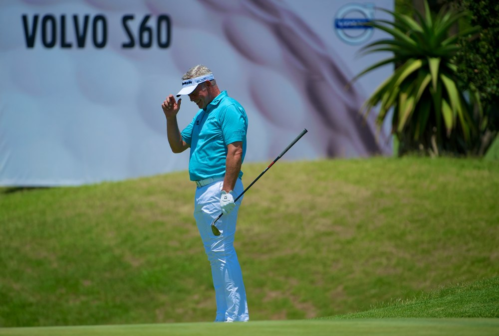 Darren Clarke enjoyed the opening round of the Volvo Golf Champions. Picture © Volvo in Golf