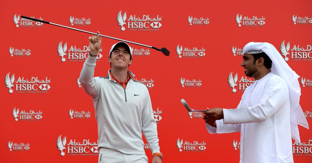 Rory McIlroy givestraditional Emirati Al Razfa dancing a whirl in Abu Dhabi.