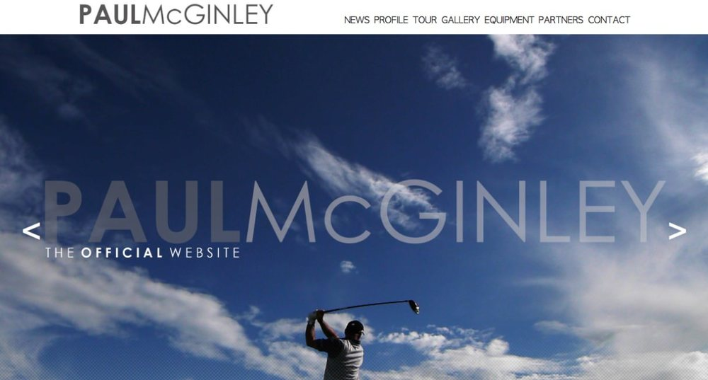 The relaunched PaulMcGinley.com
