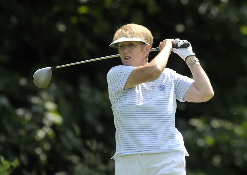 Valerie Hassett competing in the semi final of the plate at the 2013 Irish Seniors Women's Close Amateur Championship at Woodenbridge. Picture by Pat Cashman  www.cashmanphotography.ie