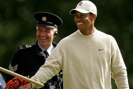Tiger Woods at Adare Manor in 2010