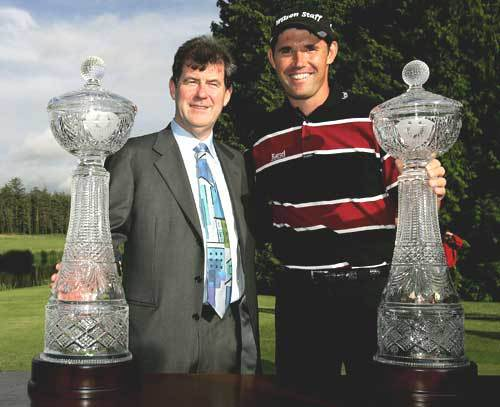 Padraig Harrington and JP McManus at Adare Manor.
