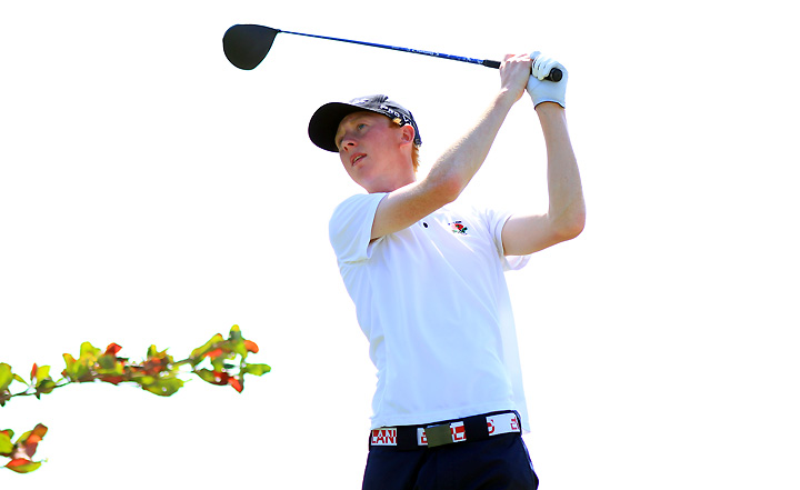 England's Jimmy Mullen leads the IX South American Amateur Championship at the first round.