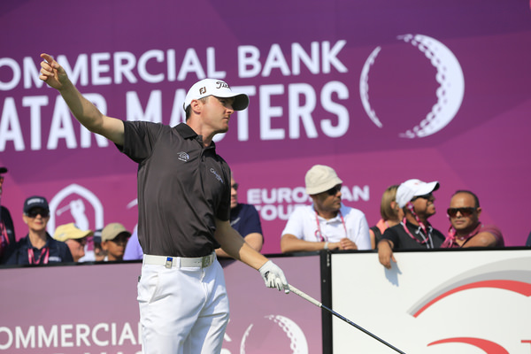 Michael Hoey looks anxiously after his opening drive in the third round of the Qatar Masters. Picture: Eoin Clarke  www.golffile.ie