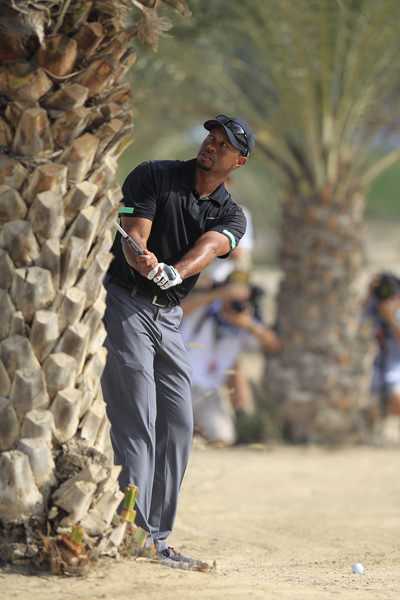 Tiger Woods in trouble at the 10th. Picture Eoin Clarke www.golffile.ie