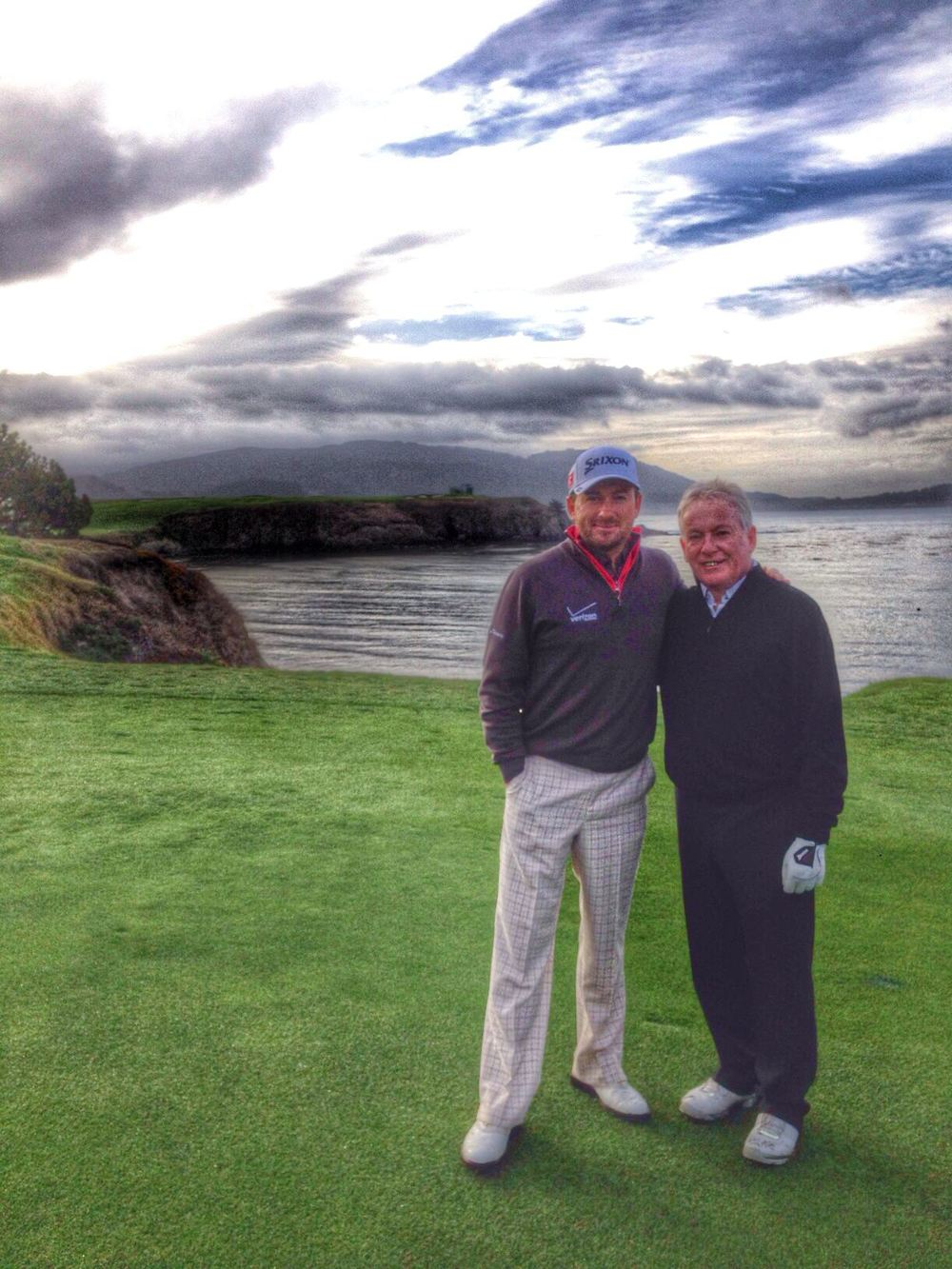 Graeme McDowell and his father Kenny are back at Pebble Beach for the first time since the 2010 US Open. Picture via @Graeme_McDowell