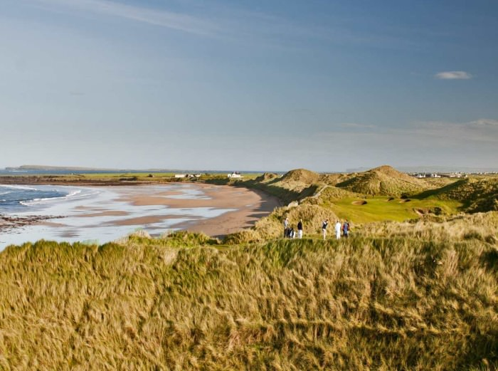 Doonbeg — home to golfers, the grey dunes and the microscopic snail Vertigo angustior. Picture via doonbeglodge.com