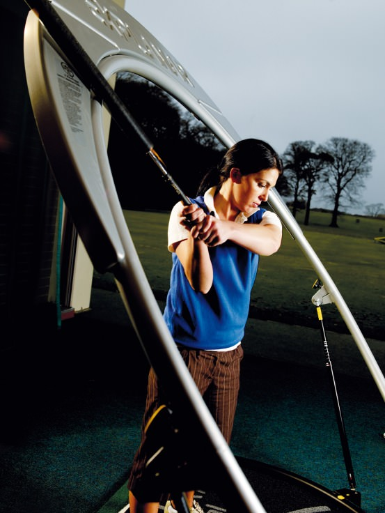 The Explanar swing aid at Fota Island Golf Academy