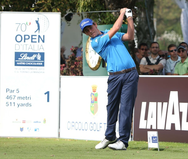Italy's Renatore Paratore tees off in the European Tour's Italian Open in Turin last year. Picture: Claudio Scaccini/ www.golffile.ie